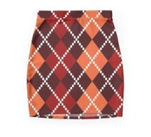 Retro colorful old fashion argile Design Mini Skirt
