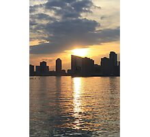 Sunset Over Hudson River Photographic Print