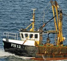Fishing Boat FH12 off Pendennis Point Sticker