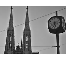 Clock in Vienna Photographic Print