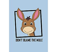 DON'T BLAME THE MULE Photographic Print