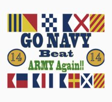 Go Navy Beat Army Again One Piece - Short Sleeve