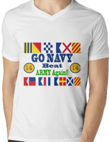 Go Navy Beat Army Again Mens V-Neck T-Shirt
