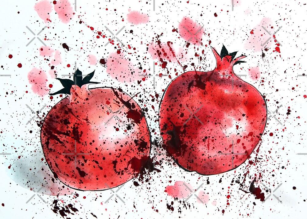 Pomegranates by Aleksandra Kabakova
