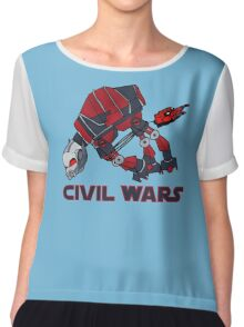 """""""Like when they were on the snow planet"""" (Text) Chiffon Top"""