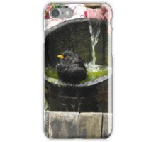 bathing bird iPhone Case/Skin