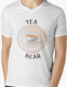 Tea Bear Mens V-Neck T-Shirt