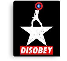 Captain USA Disobey Canvas Print