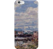 Alfred Sisley - The Seine at Billancourt   French Impressionism Landscape iPhone Case/Skin