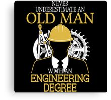 Old Man An Withan Engineering Canvas Print