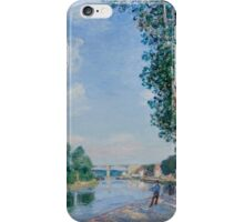 Alfred Sisley - Saint-Mammes. June Sunshine French Impressionism Landscape iPhone Case/Skin