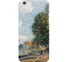 Alfred Sisley - Moret The Banks of the River Loing  Impressionism  Landscape  iPhone Case/Skin