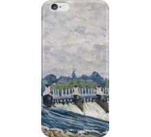Alfred Sisley - Molesey Weir, Hampton Court   Impressionism  Landscape  iPhone Case/Skin