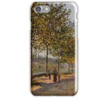 Alfred Sisley - June Morning in Saint-Mammes 1884  Impressionism  Landscape  iPhone Case/Skin