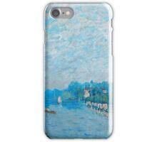 Alfred Sisley - Bords de riviere Orillas del río La Tamise a Hampton Court, premiers jours d octobre 1874 - 1874  Impressionism  Landscape  iPhone Case/Skin
