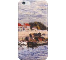 Alfred Sisley - Barges on the Loing at Saint-Mammes 1885 Impressionism   iPhone Case/Skin