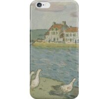 Alfred Sisley - Banks of the River Les Bords de riviere 1897 iPhone Case/Skin