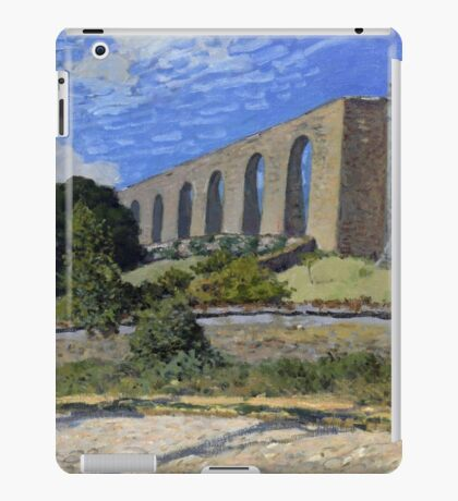 Alfred Sisley - Aqueduct at Marly 1874 Impressionism  Landscape  iPad Case/Skin