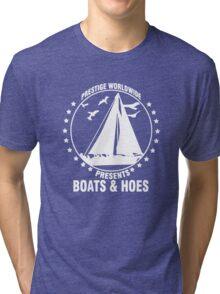Prestige Worldwide Presents Boats & Hoes Tri-blend T-Shirt