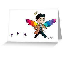 Fabulous Castiel Chibi Greeting Card
