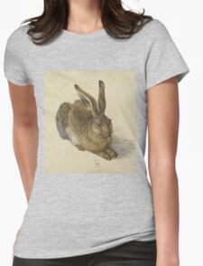 Albrecht Durer  - Hare 1502  Portrait Fashion Womens Fitted T-Shirt