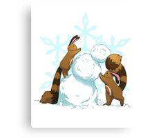 Pokemon - Winter Sentrets Canvas Print