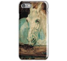 Henri de Toulouse-Lautrec  - The White Horse Gazelle (1881) iPhone Case/Skin
