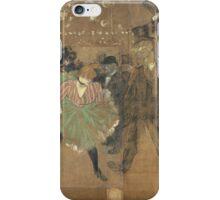 Henri de Toulouse-Lautrec  - Panneaux pour la baraque de la Goulue, à la Foire du Trône à Paris 1895Woman Portrait Fashion iPhone Case/Skin