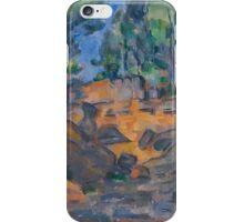 Paul Cezanne - Trees and Rocks, Near the Château Noir Impressionism  Landscape iPhone Case/Skin