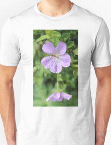 Purple flower on a rainy day Unisex T-Shirt