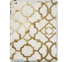 Gold and White Arabesque iPad Case/Skin