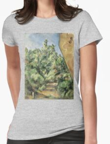 Paul Cezanne - The Red Rock  1895 Impressionism  Landscape Womens Fitted T-Shirt