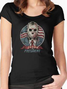 Jason For President Women's Fitted Scoop T-Shirt