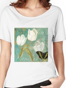 White Tulips I Women's Relaxed Fit T-Shirt