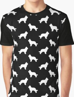 Briard Dog Silhouette(s) Graphic T-Shirt