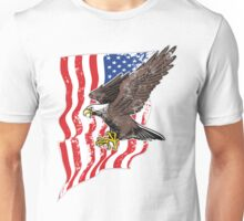USA Flag and Bald Eagle Unisex T-Shirt