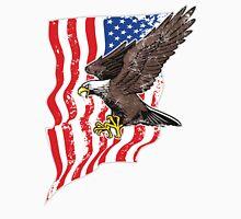USA Flag and Bald Eagle Unisex T-Shirt