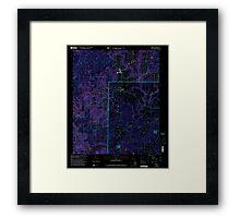 USGS TOPO Map Alabama AL Addison 303075 2000 24000 Inverted Framed Print