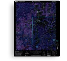 USGS TOPO Map Alabama AL Addison 303075 2000 24000 Inverted Canvas Print