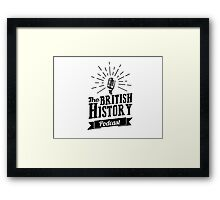 The British History Podcast Retro style Framed Print