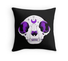 Luna Cat Skull Throw Pillow