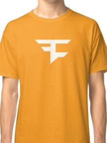 Faze Clan | White Logo | Red Background | High Quality! Classic T-Shirt