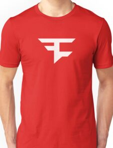 Faze Clan | White Logo | Red Background | High Quality! Unisex T-Shirt
