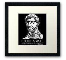 Hipster Hadrian Framed Print