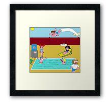 Pool party fail Framed Print