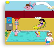 Pool party fail Canvas Print
