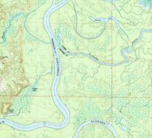 USGS TOPO Map Alabama AL Bilbo Island 331455 1983 24000 Sticker