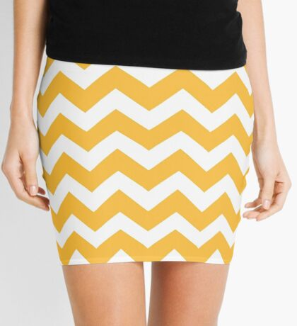 Thanksgiving seamless Chevron pattern Mini Skirt