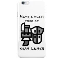 Monster Hunter Gunlance iPhone Case/Skin