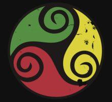 Reggae Flag Chilling Vibes - Cool Reggae Flag Colors Gifts Kids Tee